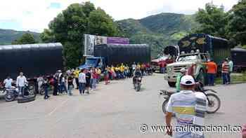En Planadas, Tolima, camioneros bloquean la vía de acceso - http://www.radionacional.co/