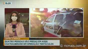 Quatro pessoas são presas em Assis Chateaubriand em operação tentáculos - RIC Mais