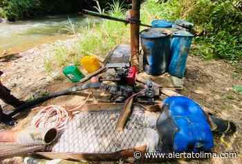 Siguen asestando duros golpes contra la minería ilegal en el norte del Tolima - Alerta Tolima