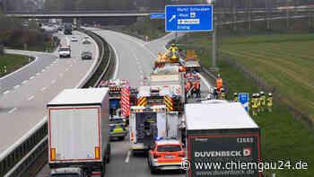 Unfall mit Lkw auf der A94 bei Markt-Schwaben - chiemgau24.de