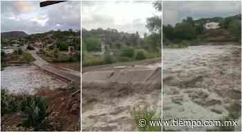 Así quedó río en San Francisco de Borja tras fuertes lluvias - El Tiempo de México