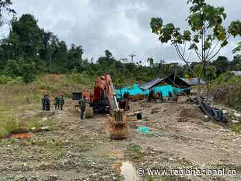 Destruyen entable ilegal de minería en Río Quito, Chocó - http://www.radionacional.co/