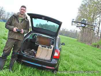 Morten Bucksch und Björn Rohlfing aus Rahden-Preußisch Ströhen setzen sich für die Rettung von Wildtieren ein: Drohne spürt die Kitze auf - Rahden - Westfalen-Blatt