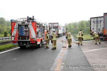 Audi bei Unfall auf A3 bei Aschaffenburg schwer beschädigt - Main-Echo