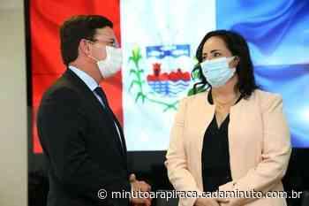 Em Brasilia, secretaria Fabiana Pessoa tem audiência com ministro da Cidadania, João Roma - Minuto Arapiraca