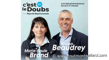 Elections Départementales 2021 : Canton de Bavans, Bruno Beaudrey et Marie-Paule Brand candidats - ToutMontbeliard.com