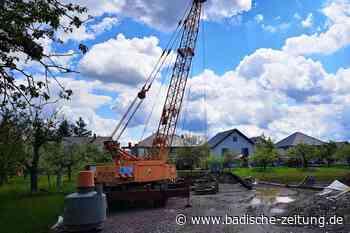 In Wittenweier werden Schutzbrunnen für den Polder Elzmündung gebaut - Schwanau - Badische Zeitung