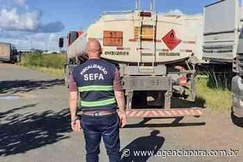Sefa apreende caminhão tanque com 10 mil litros de diesel em Altamira - Para