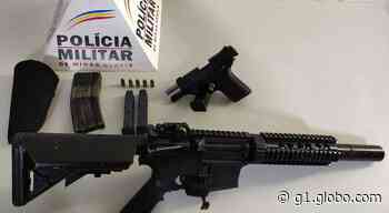PM apreende pistola semiautomática e réplica de fuzil em Nova Serrana - G1