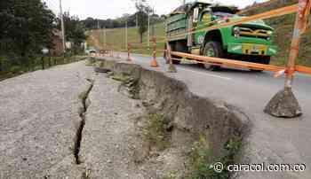 Por falla geológica cierran vía Ancuya - Sandoná - Caracol Radio