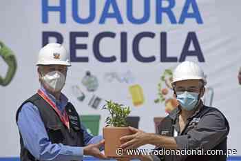 Presidente Sagasti inauguró planta de gestión de residuos en Huaura - Radio Nacional del Perú