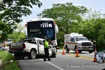 Aparatoso accidente en Ponedera deja varios heridos - EL HERALDO