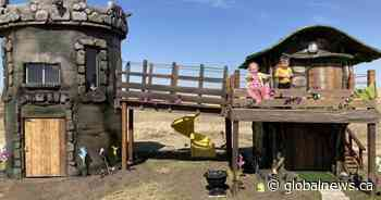 Bella Thomson's very own fairytale castle sprouts in Swift Current backyard - Globalnews.ca
