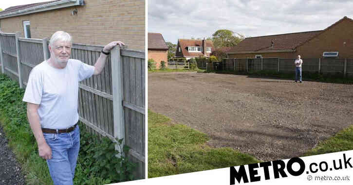 Man furious as he wakes up to find car park extension being built next to home