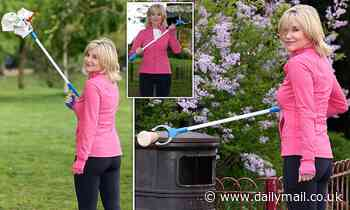 Former Blue Peter presenter Anthea Turner joins litter war to save the nation's beautiful parks