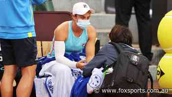 'Pain was too severe': Barty sweating over French Open defence after injury