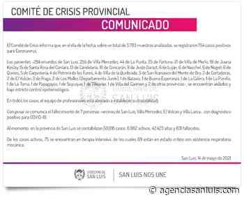 Son 754 los casos de Coronavirus registrados este viernes - Agencia de Noticias San Luis