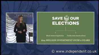 Leaked video shows right-wing group bragging about coordinated voting restrictions campaign