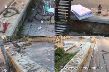 Vandali in azione a Monserrato: in trenta pasticciano muri e lanciano bottiglie contro le case - Casteddu Online
