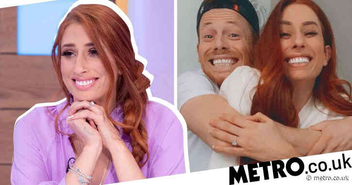 Stacey Solomon admits she cries when she looks at dream wedding dress as she shares design with fans