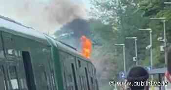 Pearse-Maynooth train stops suddenly after exhaust fault causes flames break out - Dublin Live