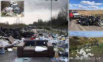 Fly-tipping cases hit 20,000 a WEEK with items dumped including a boat