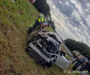 Homem morre após batida entre carro e caminhão em rodovia de Tanabi - G1