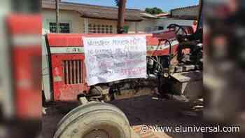 Protestaron con tractores exigiendo gasoil en Sabaneta de Barinas - El Universal (Venezuela)