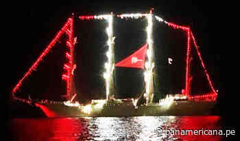 Chiclayo: BAP Unión enciende sus luces en mar de Pimentel   Panamericana TV - Panamericana Televisión