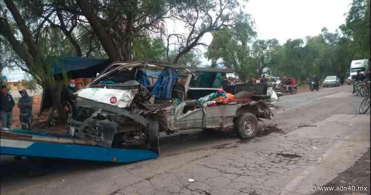 VIDEO: Camión destroza combi con pasajeros en carretera de Zumpango - ADN 40