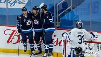 Jets' top line fuels victory over Maple Leafs to close out regular season