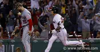 Angels surrender late lead, fall to Red Sox for their third straight loss