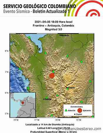 Con epicentro en Frontino, tembló en Antioquia. - Ultimas Noticias Frecuencia Estéreo