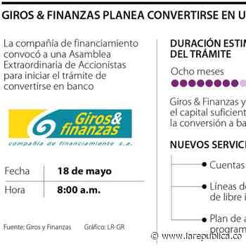Giros & Finanzas se convertiría en el banco 28 del sistema financiero nacional - La República