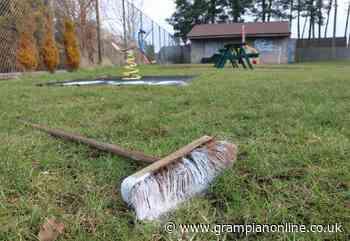 Anger after play park vandalised in Port Elphinstone Anger after play park vandalised in Port Elphinstone - Grampian Online