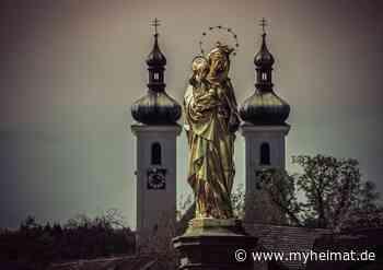 Patrona Bavariae - Madonna von Tutzing vor der St. Joseph Kirche - München - myheimat.de - myheimat.de