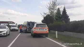 Scontro auto moto ad Alzate Brianza - Prima Como