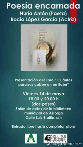 Nuria Antón presenta en Astorga el libro 'Cuántos paraísos caben en un Edén' - astorgaredaccion.com