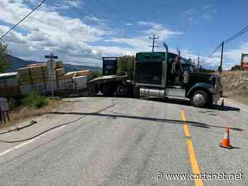 Expect heavy delays heading along Naramata Road due to a truck colliding with an electrical pole - Penticton News - Castanet.net