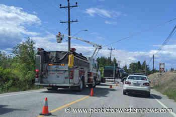 UPDATE: Expect long delays on Naramata Road – Penticton Western News - Penticton Western News