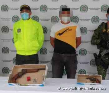 Capturan a un sujeto por porte ilegal durante allanamientos en Corozal - El Universal - Colombia