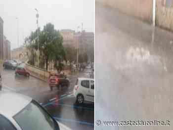 Violento temporale su Cagliari, bomba d'acqua e strade come fiumi anche in tutto l'hinterland - Casteddu Online