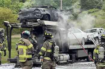 Danville ramp reopens after big rig fire - WDBJ7