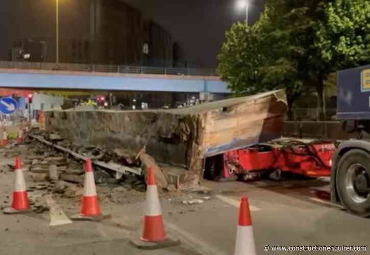 120-tonne bridge beam falls onto Leeds highway