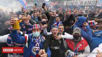 Covid in Scotland: Police urge large Rangers crowds to disperse