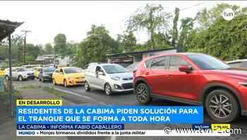 Conductores afectados por interminables tranques en La Cabima - TVN Panamá