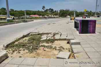 Malecón de Puerto Colombia presenta daños en varias zonas - EL HERALDO