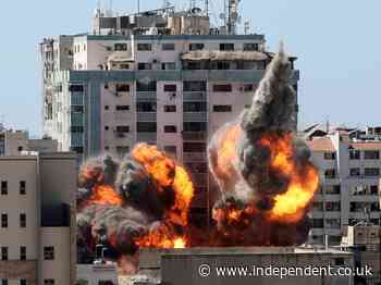Israel - Gaza live: Israel airstrike destroys AP and Al-Jazeera office tower block as violence continues