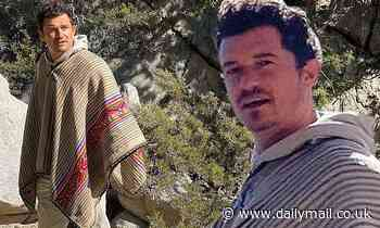 Orlando Bloom's poncho photoshoot draws reactions from Gwyneth Paltrow and others - Daily Mail