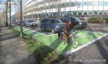 Main St. 'Bike box' will give cyclists a leg up on motorists
